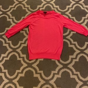 3 quarter sleeve 100% Merino wool J. crew sweater